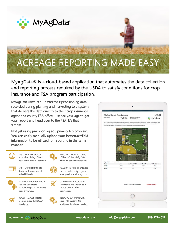 MyAgData Overview